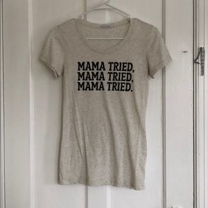 The Bee & The Fox Mama Tried Fitted Tee Medium